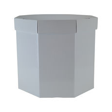 Small Hat Box 19263LB Base & Lid - Premium Gloss White (Most Popular)