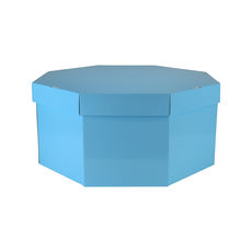 Large Hat Box 19264LB12 Base & Lid - Premium Gloss Baby Blue