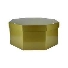 Large Hat Box 19264LB12 Premium Gloss Gold