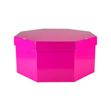 Large Hat Box 19264LB12 Premium Gloss Hot Pink