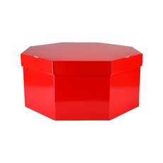 Large Hat Box 19264LB12 Base & Lid - Premium Gloss Red