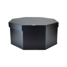 Large Hat Box 19264LB12 Base & Lid - Premium Matt Black