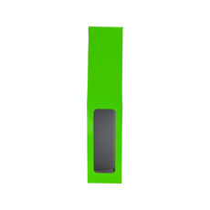 1 Bottle Gable Top Wine Box with Window 19271 - Premium Gloss Lime Green