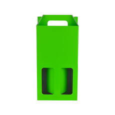 Double Wine Box 19275 - Premium Gloss Lime Green