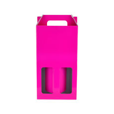 Double Wine Box 19275 - Premium Gloss Hot Pink