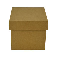 Tiny Gift Box 19276 Base & Lid - Kraft Brown