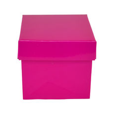 Tiny Gift Box 19276 Base & Lid - Premium Gloss Hot Pink