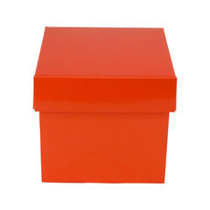 Tiny Gift Box 19276 Base & Lid - Premium Gloss Orange