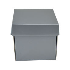 Tiny Gift Box 19276 Base & Lid - Premium Matt Silver
