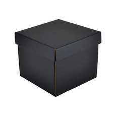 Mini Gift Box 19277 Base & Lid - Kraft Black (Double Sided)