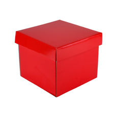 Mini Gift Box 19277 Base & Lid - Premium Gloss Red