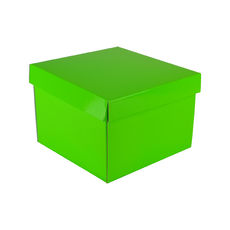 Medium Gift Box 19278 Base & Lid - Premium Gloss Lime Green