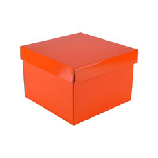Medium Gift Box 19278 Base & Lid - Premium Gloss Orange