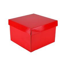 Medium Gift Box 19278 Base & Lid - Premium Gloss Red