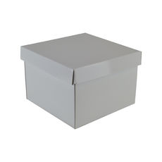 Medium Gift Box 19278 Base & Lid - Premium Gloss White (Most Popular)