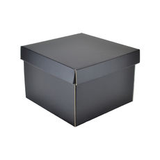 Medium Gift Box 19278 Base & Lid - Premium Matt Black