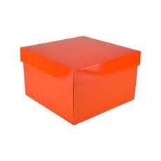 Small Gift Box 19279 Base & Lid - Premium Gloss Orange