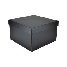 Small Hamper Gift Box 19280 Base & Lid - Kraft Black (Double Sided)