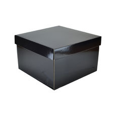 Small Hamper Gift Box 19280 Base & Lid - Premium Gloss Black