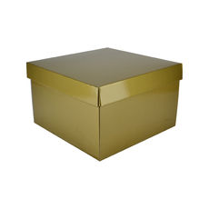 Small Hamper Gift Box 19280 Base & Lid - Premium Gloss Gold