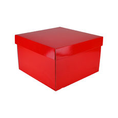 Small Hamper Gift Box 19280 Base & Lid - Premium Gloss Red