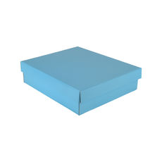 Rectangle Gift Box 19282 Base & Lid - Premium Gloss Baby Blue