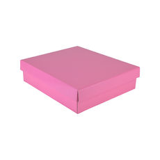 Rectangle Gift Box 19282 Base & Lid - Premium Gloss Baby Pink