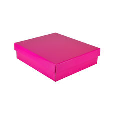 Rectangle Gift Box 19282 - Premium Gloss Hot Pink