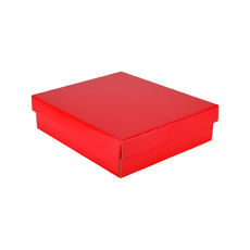 Rectangle Gift Box 19282 Base & Lid - Premium Gloss Red