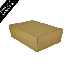 SAMPLE - Small Shirt Gift Box 19283 - Kraft Brown Base & Lid