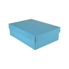 Small Shirt Gift Box 19283 Base & Lid - Premium Matt Baby Blue