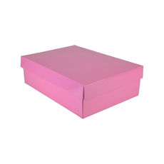 Small Shirt Gift Box 19283 Base & Lid - Premium Matt Baby Pink