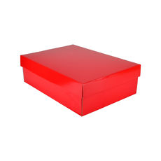 Small Shirt Gift Box 19283 Base & Lid - Premium Gloss Red