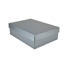 Small Shirt Gift Box 19283 Base & Lid - Premium Gloss Silver