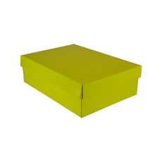 Small Shirt Gift Box 19283 Base & Lid - Premium Gloss Yellow
