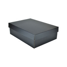 Small Shirt Gift Box 19283 Base & Lid - Premium Matt Black