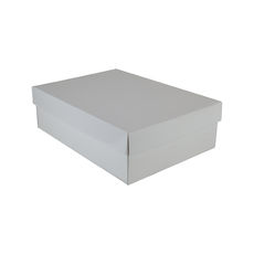 Small Shirt Gift Box 19283 Base & Lid - Premium Matt White (Most Popular)