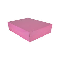 Large Shirt Gift Box 19284 Base & Lid - Premium Gloss Baby Pink