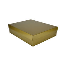 Large Shirt Gift Box 19284 Base & Lid - Premium Gloss Gold