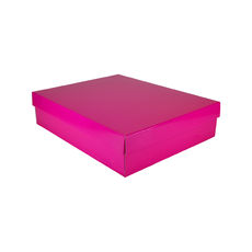 Large Shirt Gift Box 19284 Base & Lid - Premium Matt Hot Pink