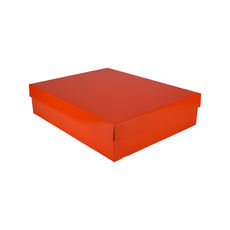 Large Shirt Gift Box 19284 Base & Lid - Premium Gloss Orange