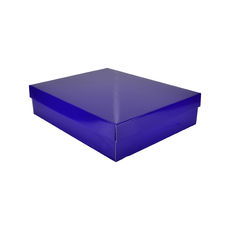 Large Shirt Gift Box 19284 Base & Lid - Premium Gloss Purple