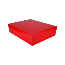 Large Shirt Gift Box 19284 Base & Lid - Premium Gloss Red