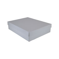 Large Shirt Gift Box 19284 Base & Lid - Premium Matt White (Most Popular)