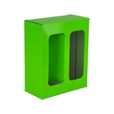 Two White Wine Glass Gift Box 19285 - Premium Gloss Lime Green