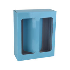 Two Red Wine Glass Gift Box 19286 - Premium Gloss Baby Blue
