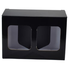 Two Red Wine Short Glass Gift Box 19287 - Premium Gloss Black
