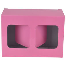 Two Red Wine Short Glass Gift Box 19287 - Premium Matt Baby Pink