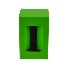 Short Red Wine Single Glass Gift Box 19291 - Premium Gloss Lime Green