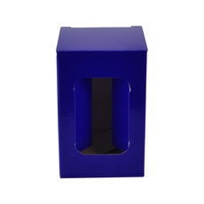 Short Red Wine Single Glass Gift Box 19291 - Premium Matt Navy Blue